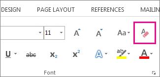 کلیه دکمه Formatting را پاک کنید