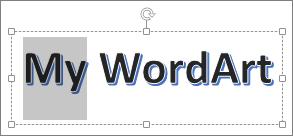 WordArt با برخی از متن متمایز شده است