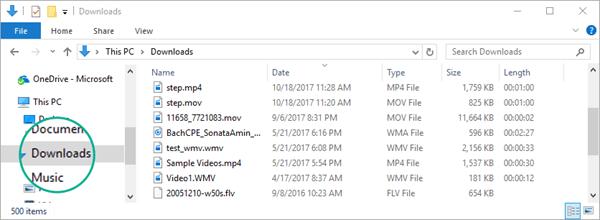 فایل تبدیل شده به پوشه Downloads کامپیوتر شما کپی می شود