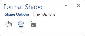 زبانه Effects در فرم Format Shape