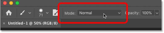 از کجا می توان حالت های ترکیب ابزار Brush را در Photoshop پیدا کرد
