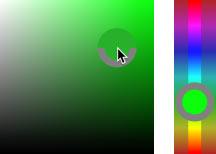 انتخاب پیش فرض HUD Color Picker (نوار Hue) در فتوشاپ