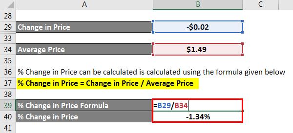 Change تغییر در قیمت