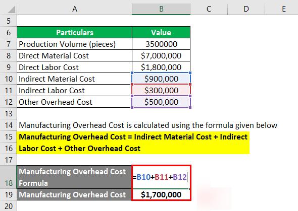 فرمول هزینه محصول-2.2