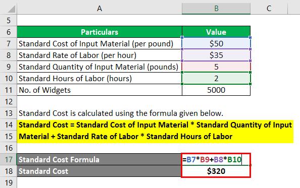 فرمول هزینه استاندارد - 1.2