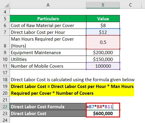 محاسبه هزینه مستقیم کار