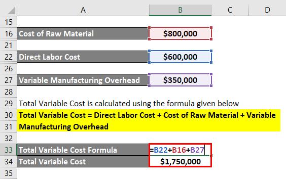 فرمول کل هزینه متغیر 2.5