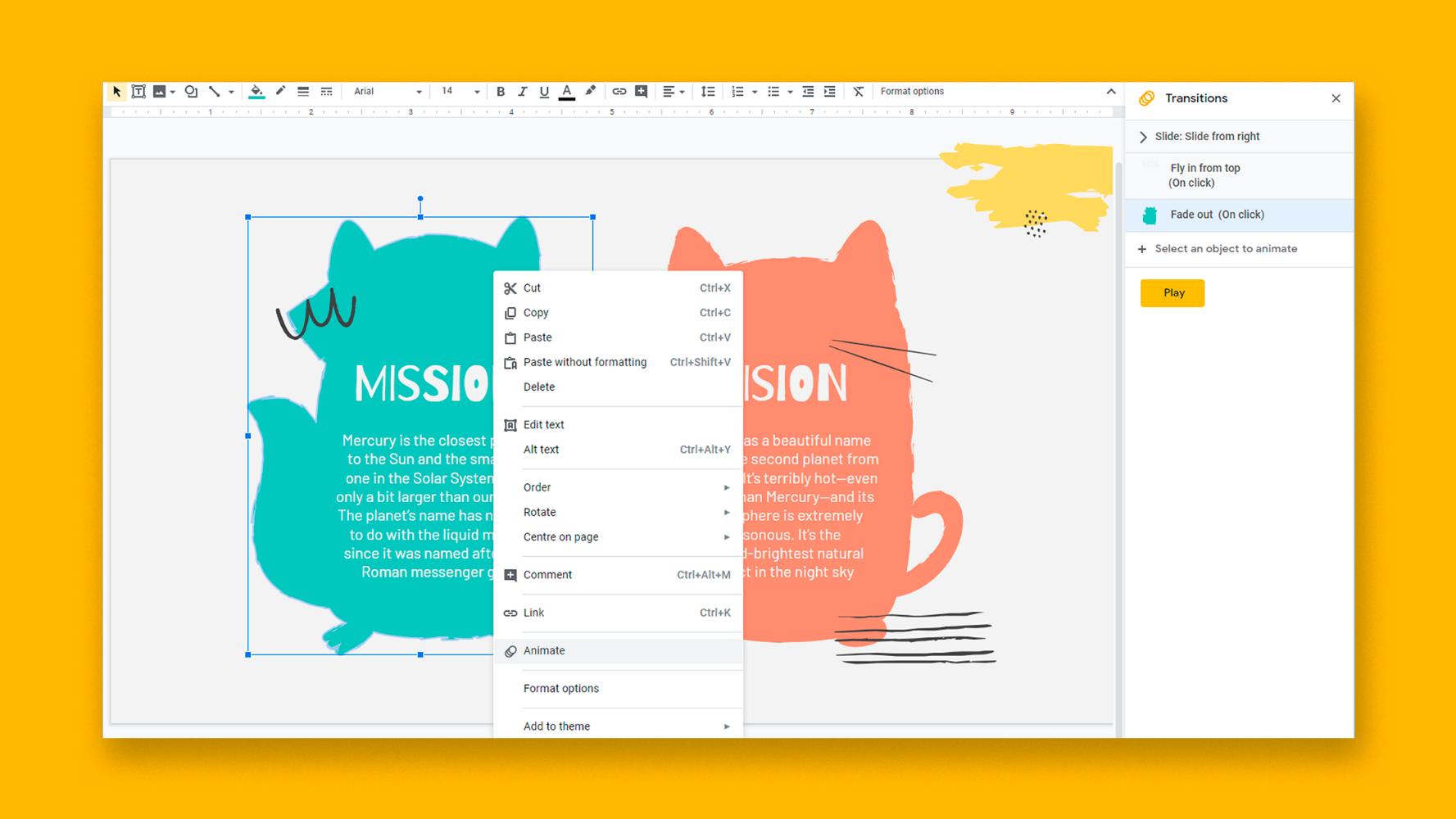 نحوه اضافه کردن انیمیشن ها و انتقال در اسلایدهای Google | نکات سریع و آموزش برای ارائه های خود