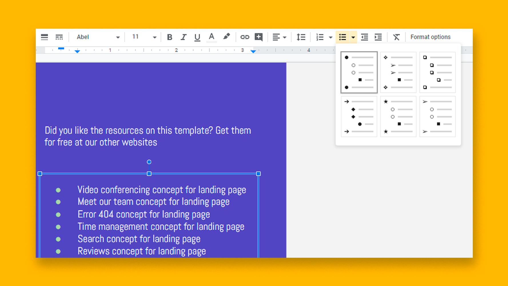 نحوه اضافه کردن لیست بولت یا شماره گذاری شده در اسلایدهای Google |  نکات سریع و آموزش برای ارائه های خود