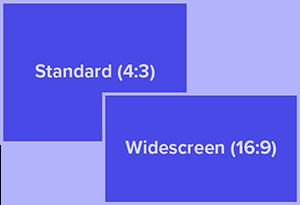 مقایسه نسبت های استاندارد و صفحه گسترده