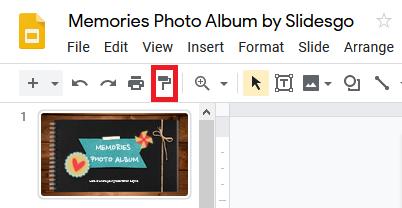 ابزار قالب را در اسلایدهای Google رنگ کنید